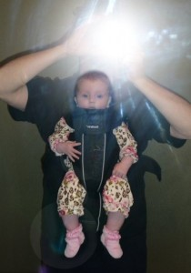 Our baby girl in her BabyBjorn