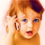 baby on cell phone