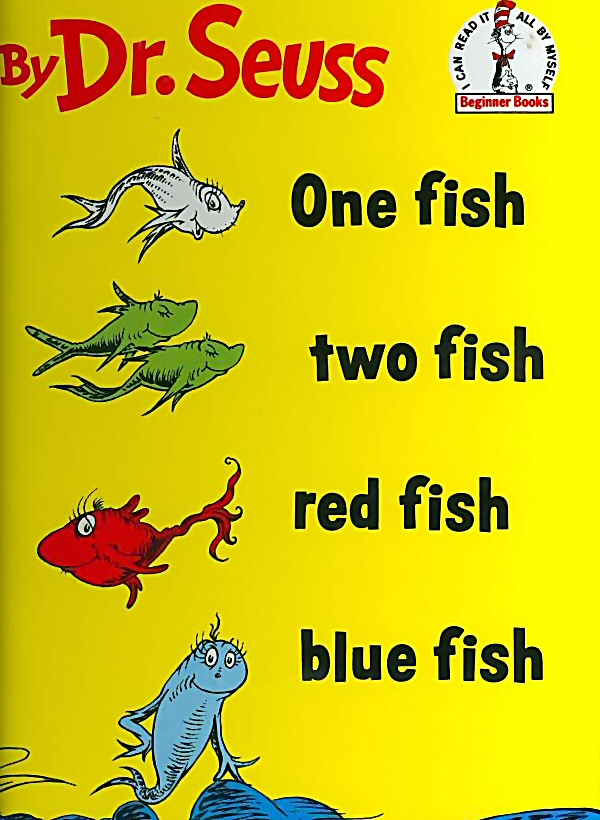 "Book Cover of ""One Fish Two Fish Red Fish Blue Fish"""