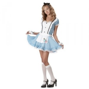 Inappropriate Alice in Wonderland pre-teen halloween costume