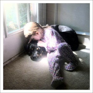Puppy Love - Our Daughter with our Dog