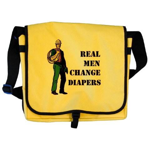 Real Men Change Diapers Bag
