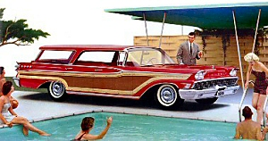The kind of vintage station wagon my dad switched to after having us kids