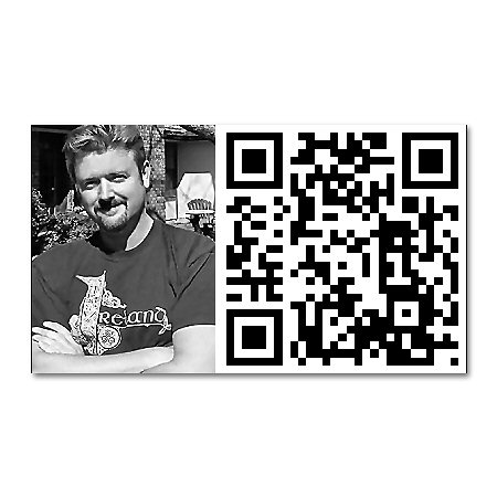 Geeky New Business Card with QR Code