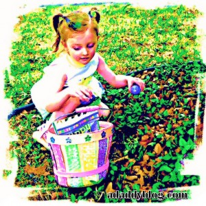 Daughter at Easter Egg Hunt Wathercolor