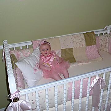 My baby girl in her crib