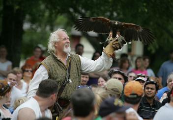 falconer at scarborough renaissance festival