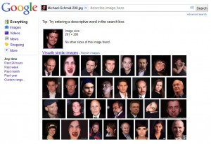 Sample of Google Search by Image Results
