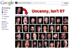 Sample results from Google's Search by Image