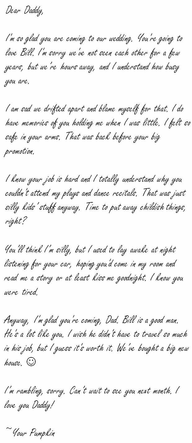 Heartbreaking love letter for him