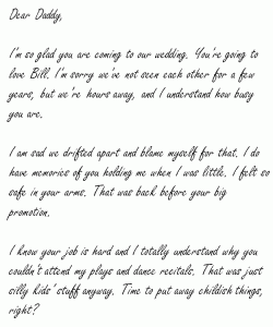 Dear Daddy I wish we had more time - Page 1