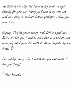 Dear Daddy I wish we had more time - Page 2