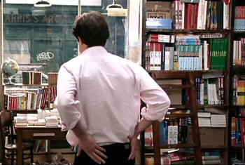 Hugh Grant in his Travel Bookshop from the film Notting Hill