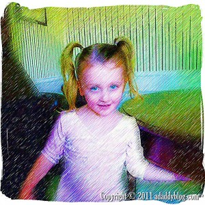 Digital Pencil Scetch of My Daughter - A Work of Art