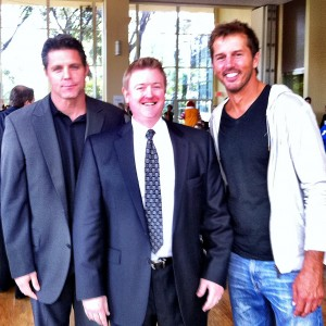 Brent Severyn, Michael Schmid, and Mike Modano at Team Escalade Texas charity event