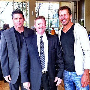 Members of TeamStrength Brent Severyn, me & Mike Modano