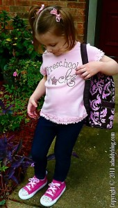 Preschool Rocks - My daughter in her Custom Swarovski Crystals Sneakers