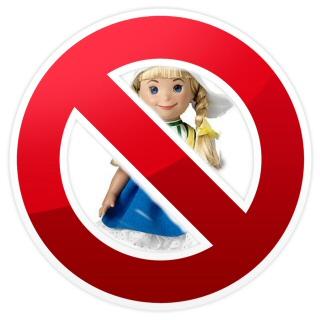 Disney Small World Dutch Doll Protest