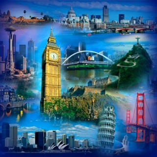 Travel Collage - London, San Francisco, Pisa, Seattle, Sydney, Rio de Janeiro