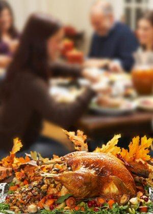 Loss of Family during the Holiday Season - Famly at Thanksgiving Table