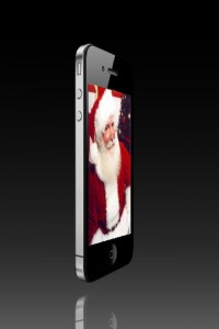 Santa on iPhone 4S with Siri - He sees you when you're sleeping