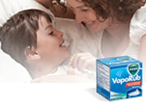 A Mother's caring for sick son with Vick's VapoRub