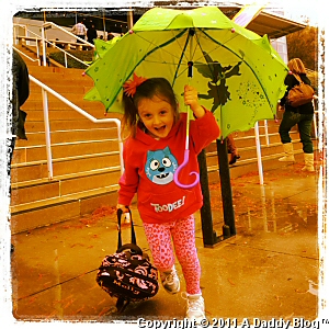 My Daughter at Verizon Theater in Dallas for Yo Gabba Gabba Live 2011