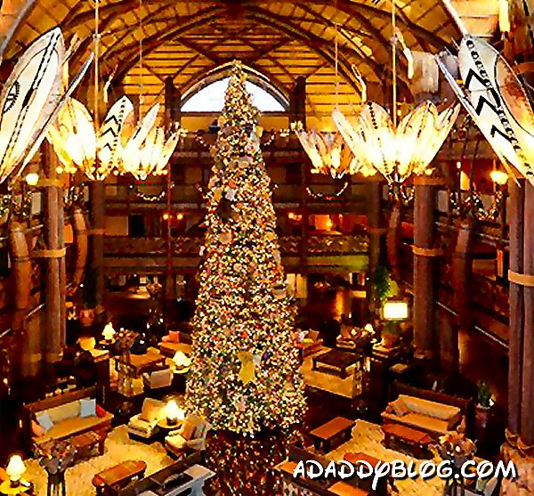 Walt Disney Worlds Animal Kingdom Lodge Decorated For Christmas 2017