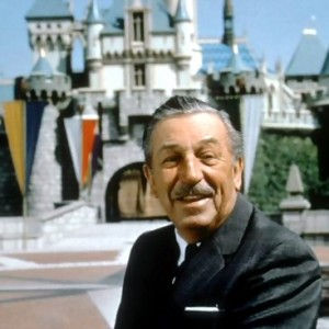 Walt Disney sporting his famous facial hair