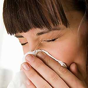 Mom with cold or flu - When mommy's not happy, no one is happy
