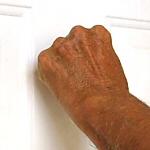 Stranger knocking at door or ringing your bell