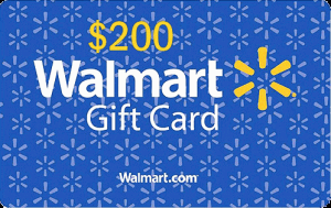 Win a $200 Walmart Gift Card
