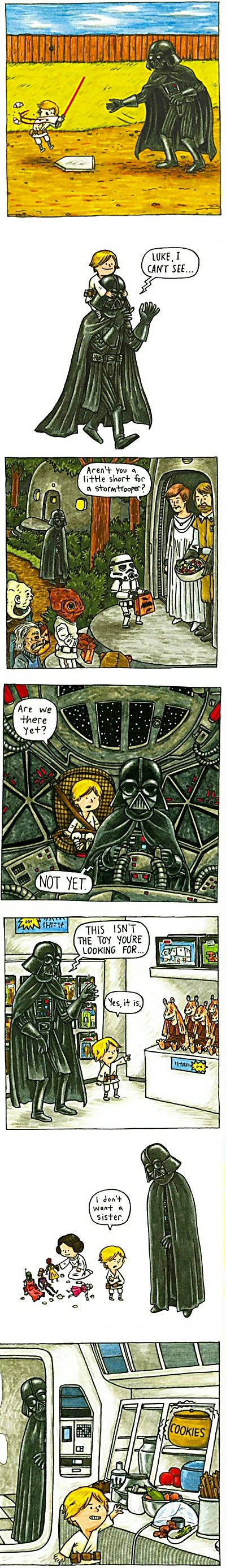 What if Darth Vader had been a good dad?