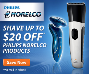 Shave up to $20 OFF on Philips Norelco products!