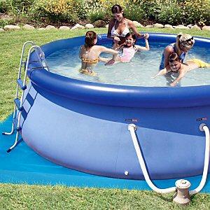 "Backyard Ocean 12' x 36"" Float to Fill™ Round Ring Pool Set"