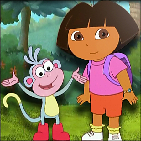 Visit NickJr.com and play Dora the Explorer games!