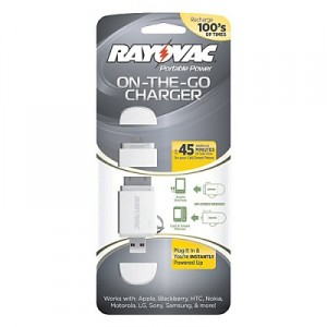 Rayovac On-The-Go Keychain Charger