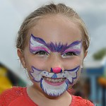 Girl with Cute Halloween Face Paint
