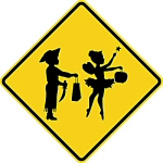 Halloween Trick or Treat Safety Sign