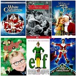 Collage of favorite Christmas DVD covers