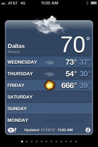 iPhone Weather: Cloudy With a Chance of Apocalypse