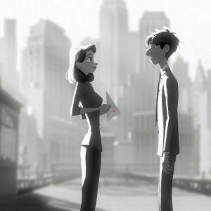 Romantic Couple from Paperman - Disney Animation Studios Oscar Nominated Short Film
