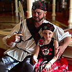 Our Daughter and Me made up for Halloween by Pirate League at Disney World 150