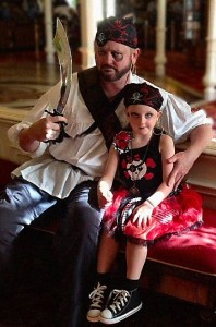 Our Daughter and Me made up for Halloween by Pirate League at Disney World