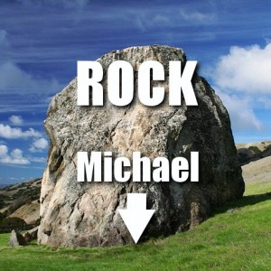 Photo of Michael under a rock!