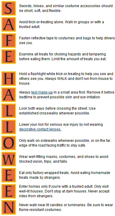 13 Halloween Safety Tips from the CDC