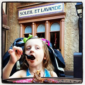 An eclair in EPCOT France