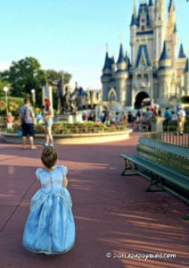 Our daughter on her way to the Cinderellas Royal Table Breakfast - adaddyblog.com