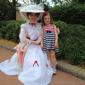 Our daughter with Mary Poppins at EPCOT United Kingdom