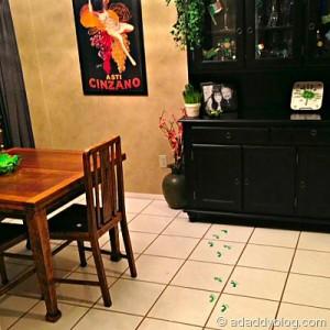 Wee Green Leprechaun Footprints